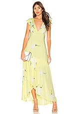 Free People She's A Waterfall Maxi Dress in Yellow Combo