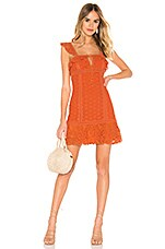 Free People Cross My Heart Mini Dress in Orange