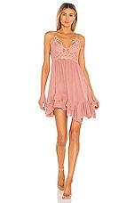 Free People Adella Slip Dress in Rose
