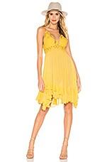 Free People Adella Slip Dress in Yellow