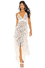 Free People Paradise Printed Maxi Dress in Ivory