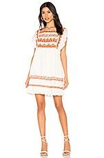 Free People Sunrise Wanderer Mini Dress in Ivory