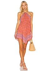 Free People Make Me Yours Mini Dress in Red