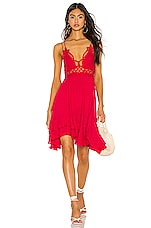 Free People Adella Slip Dress in Bright Red