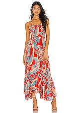 Free People Heat Wave Maxi Dress in Red