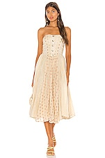 Free People Amanda Midi Dress in Ivory