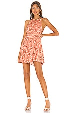 Free People Mid Summers Day Dress in Red Combo