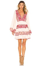 Free People My Love Mini Dress in Pink