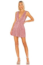 Free People Twist And Shout Mini Dress in Pink