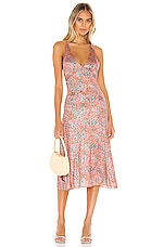 Free People Nowhere To Be Slip Dress in Coral