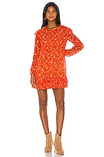 Free People These Dreams Mini Dress in Orange