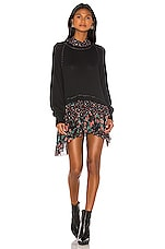Free People Opposites Attract Mini Dress in Black