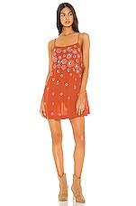 Free People Azelia Slip Dress in Copper