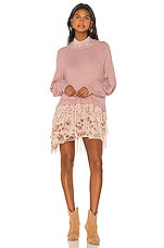 Free People Opposites Attract Mini Dress in Pink