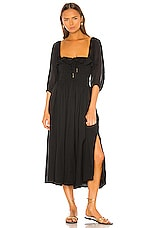 Free People Oasis Midi Dress in Black