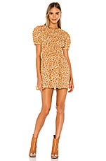 Free People Pennie Mini Dress in Yellow Combo