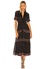 Free People Rare Feeling Maxi Dress in Black Combo