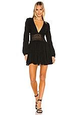 Free People The Delightful Mini Dress in Black