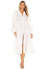 Free People Light Heart Shirt Dress in White