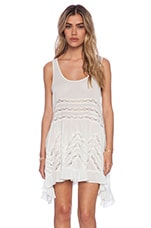 Trapeze Slip Dress in White Combo
