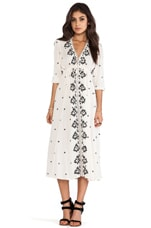Free People Embroidered Dress in Ivory Combo