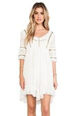 Free People Little Dot Mini Dress in Vanilla