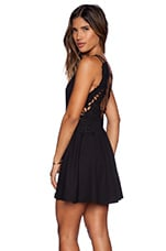 Cha Cha Ponte Like A Dream Dress in Black