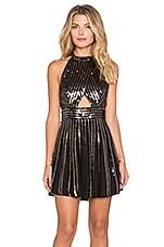 Free People Sequin Stripe Mini Dress in Black