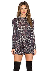 Free People Annabelle Printed Tunic in Plum Combo