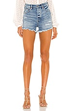 Free People Crvy Vintage High Rise Short in Denim Blue