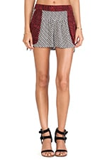 Mix Print Short in Washed Black Combo