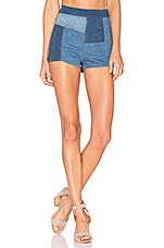 Free People Patched High And Tight Short in Dark Denim