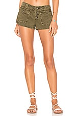Free People Cora Button Front Short in Moss