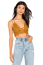 Free People Adella Bralette in Gold