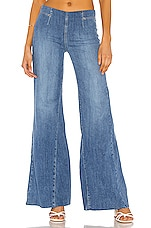 Free People Drapey A Line Pull On Jean in Blue