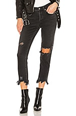Free People Good Times Relaxed Skinny in Black
