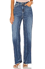 Free People Relaxed Straight Slouch in Indigo Blue