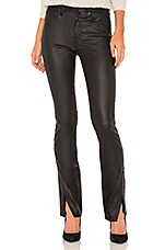 Free People Spellbound Coated Bootcut Jean in Black