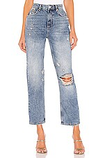 Free People Dakota Straight Leg Jean in Indigo Blue