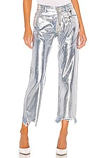 Free People Maggie Foil Jean in Silver