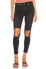 Free People High Rise Busted Skinny Jean in Carbon