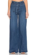 Free People Belted Flare Jean in Maytal Blue