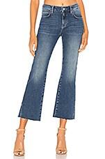 Free People Rita Crop Flare Jean in Dark Denim