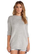 Free People Tricot Pullover in Light Grey