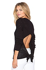Bow Back Pullover in Black