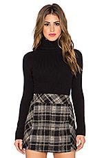 Skinny Skinny Mock Neck Sweater in Black