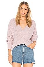 Free People Coco V-Neck Sweater in Light Purple