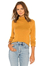 Free People Needle And Thread Merino Pullover in Mustard