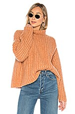 Free People Fluffy Fox Sweater in Papaya