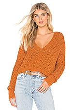 Free People Best Of You Sweater in Orange